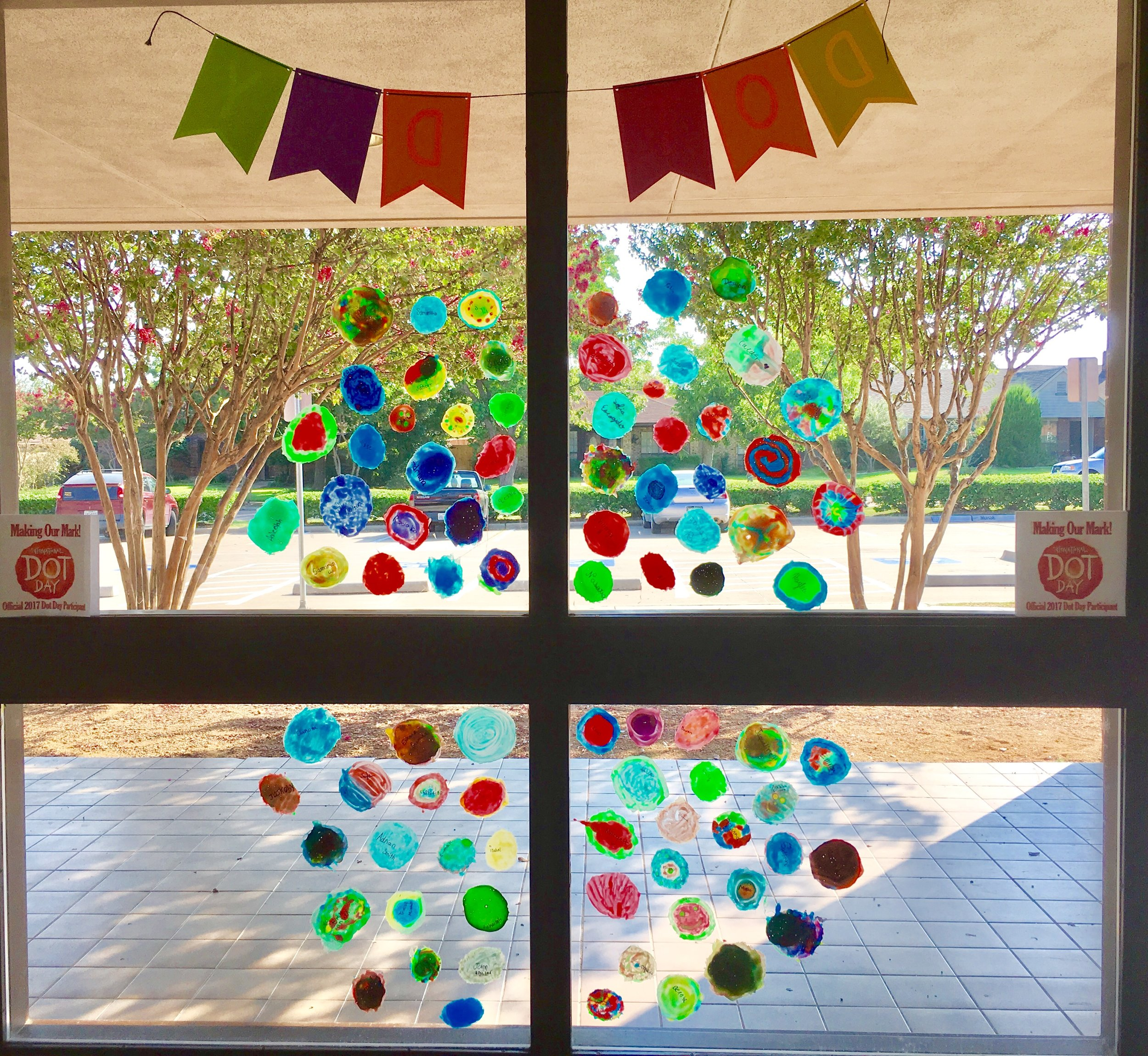 Finished Window Cling Dots 6th Grade Display.jpg