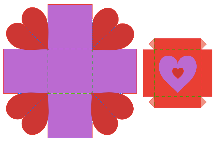 Above, is the template for the Fab@School Explosion Box Ready-Made. Check it out!