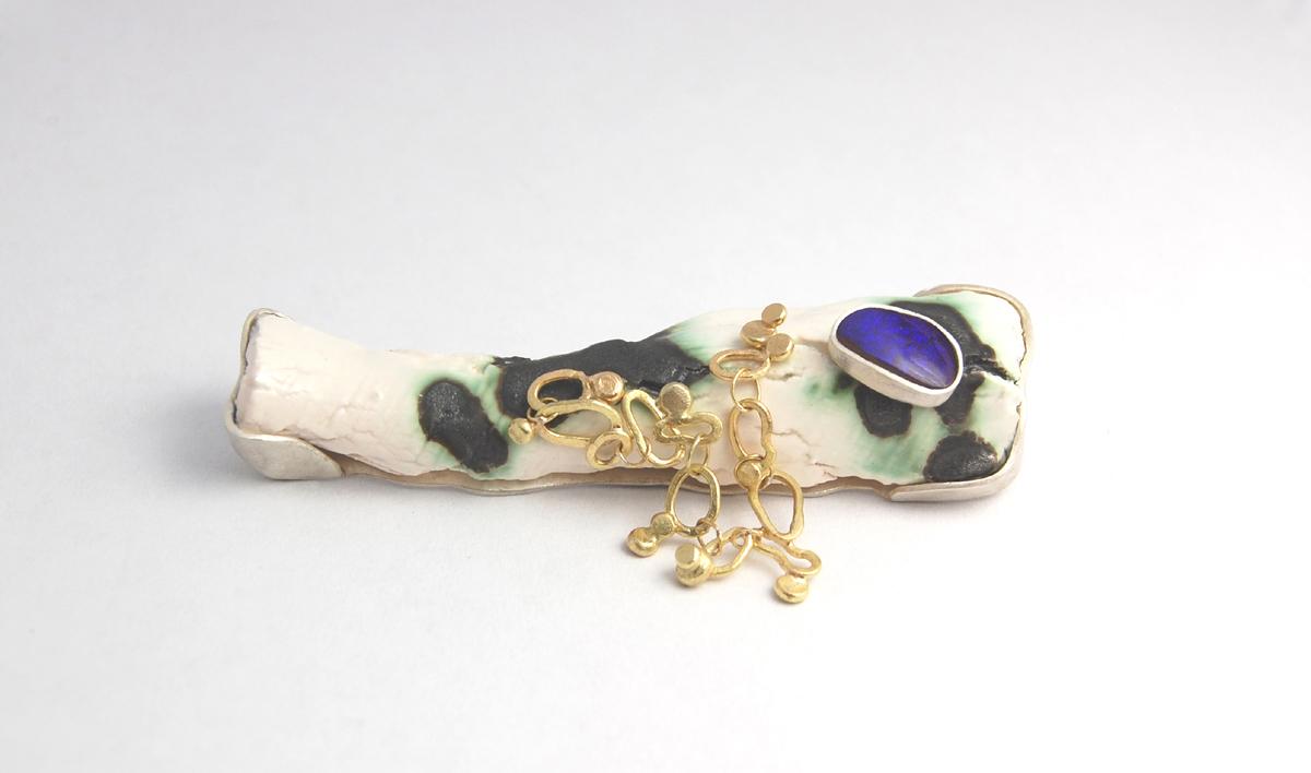 'porcelain, boulder opal and gold brooch'.jpg
