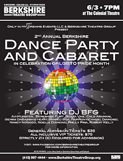 DANCE PARTY AND CABARET at     COLONIAL THEATRE, PITTSFIELD     JUNE 2017