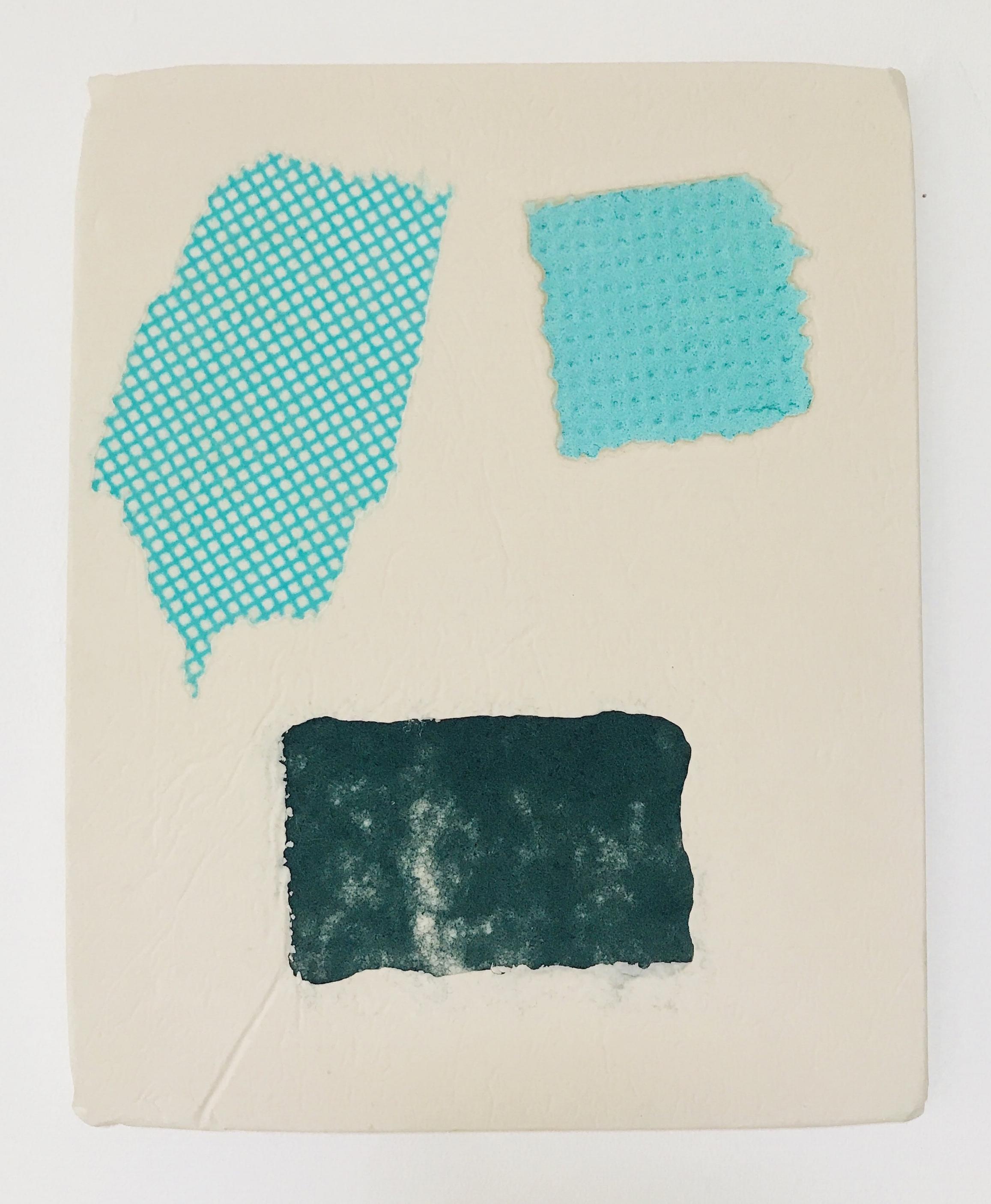 Domestic Bliss Fragment (green) | J cloth, microfibre fabric, sponge, composite | 35 x 29cm