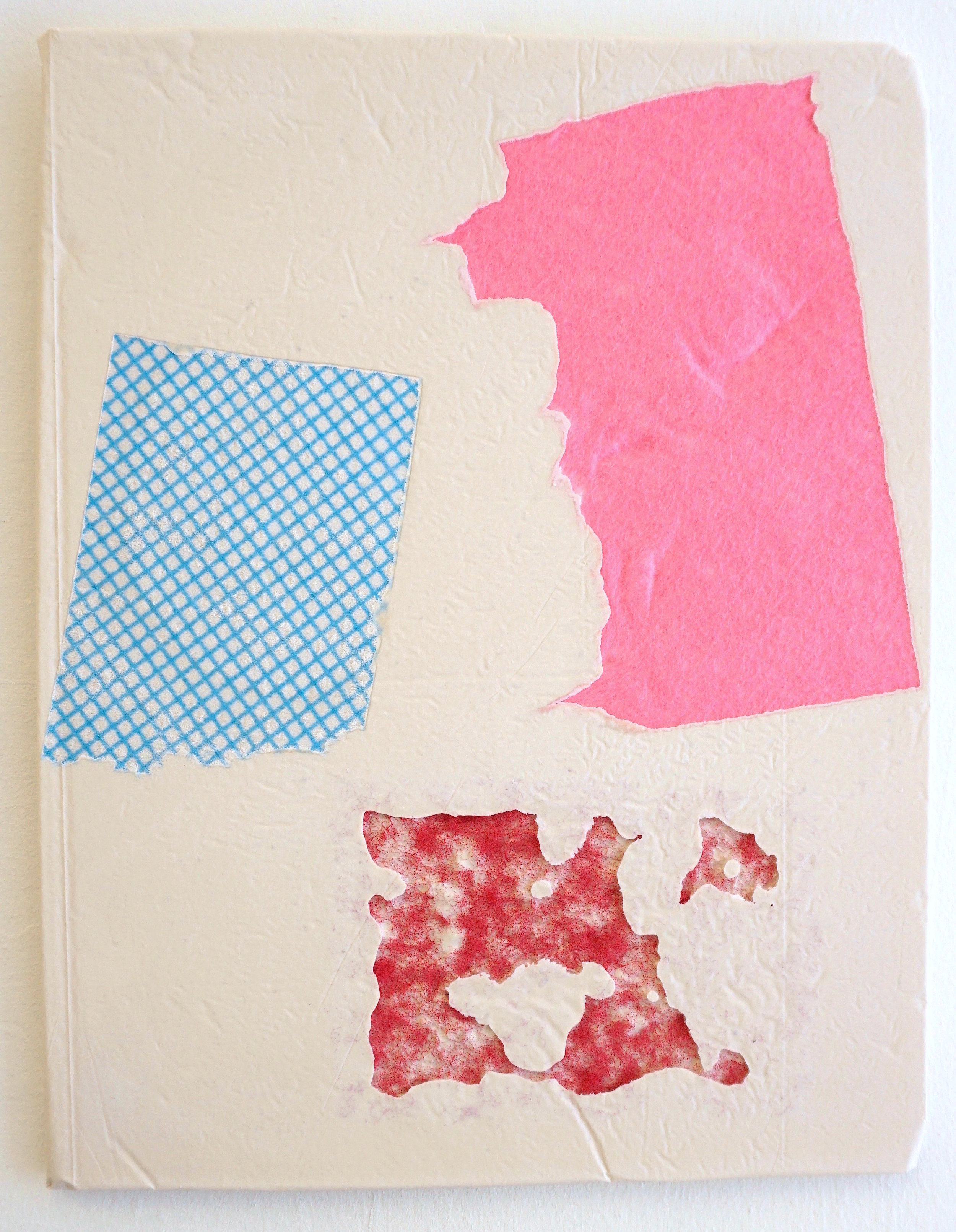 Domestic Bliss Fragment (red, blue, pink) | Composite, Mixed Media | 35 x 28 cm