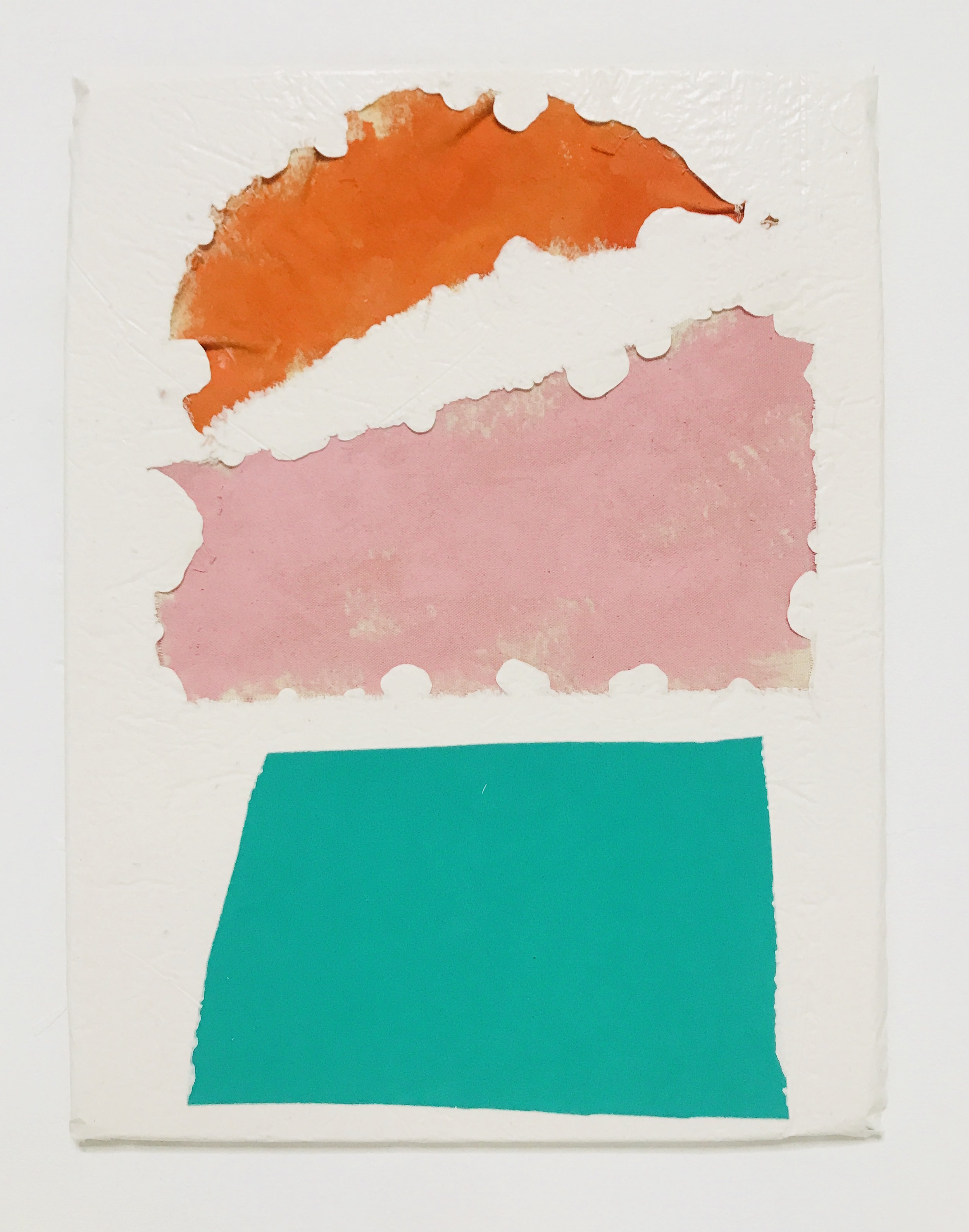 Untitled Fragment (orange and pink canvas, green foam) | Composite and Mixed Media | 42 x 32cm.jpg
