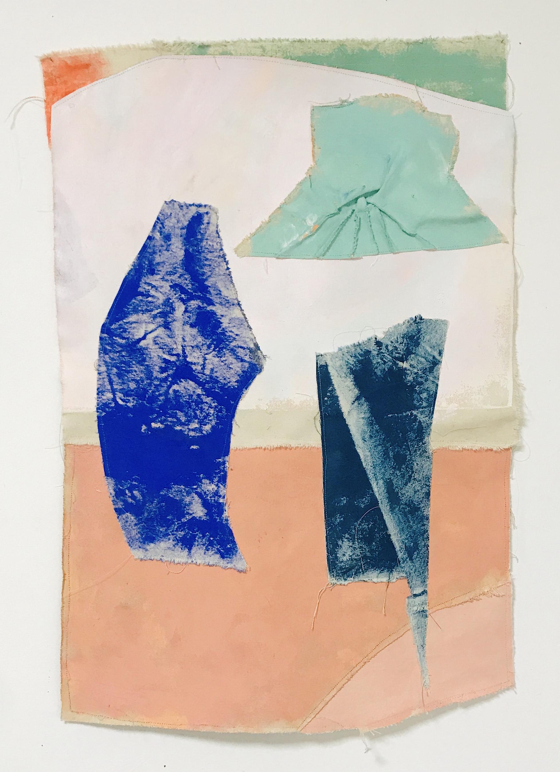 Untitled (White, Pink, Green & Orange) | Acrylic on Canvas | 72 x 58 cm