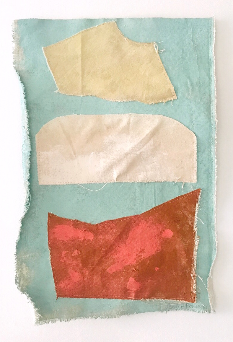 Untitled Patchwork 2019 | Acrylic on Embroidered Canvas | 52 x 28 cm