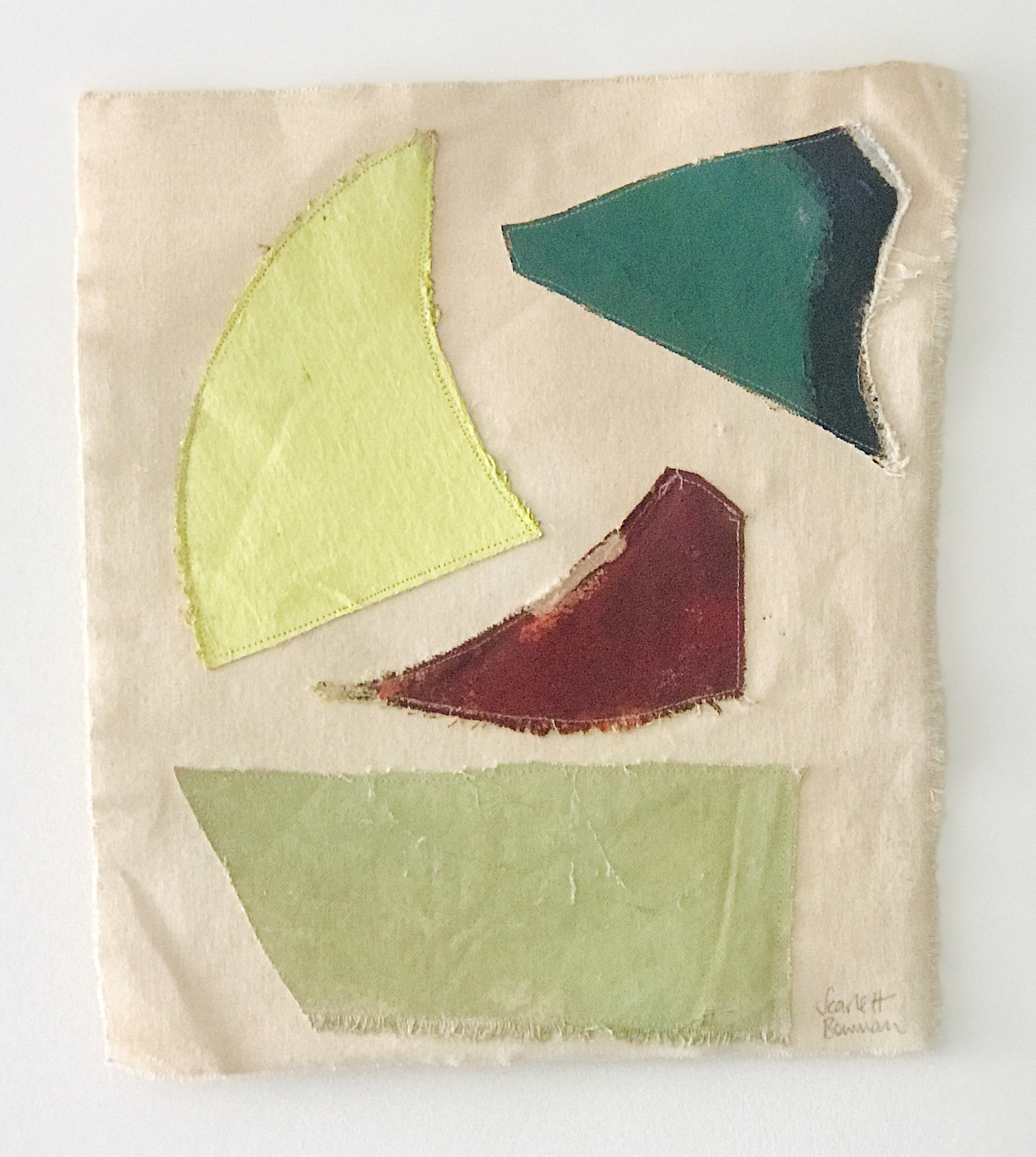 Untitled Patchwork 2019 | Oil & Acrylic on Embroidered Canvas | 36 x 32 cm