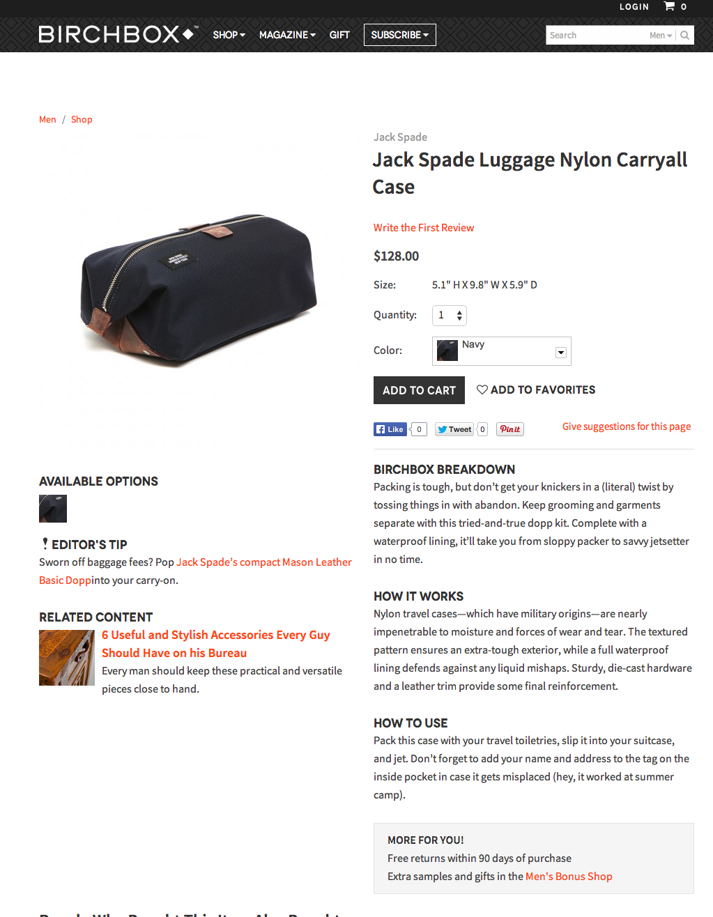 Designer Product Copy | Jack Spade for Fab.com