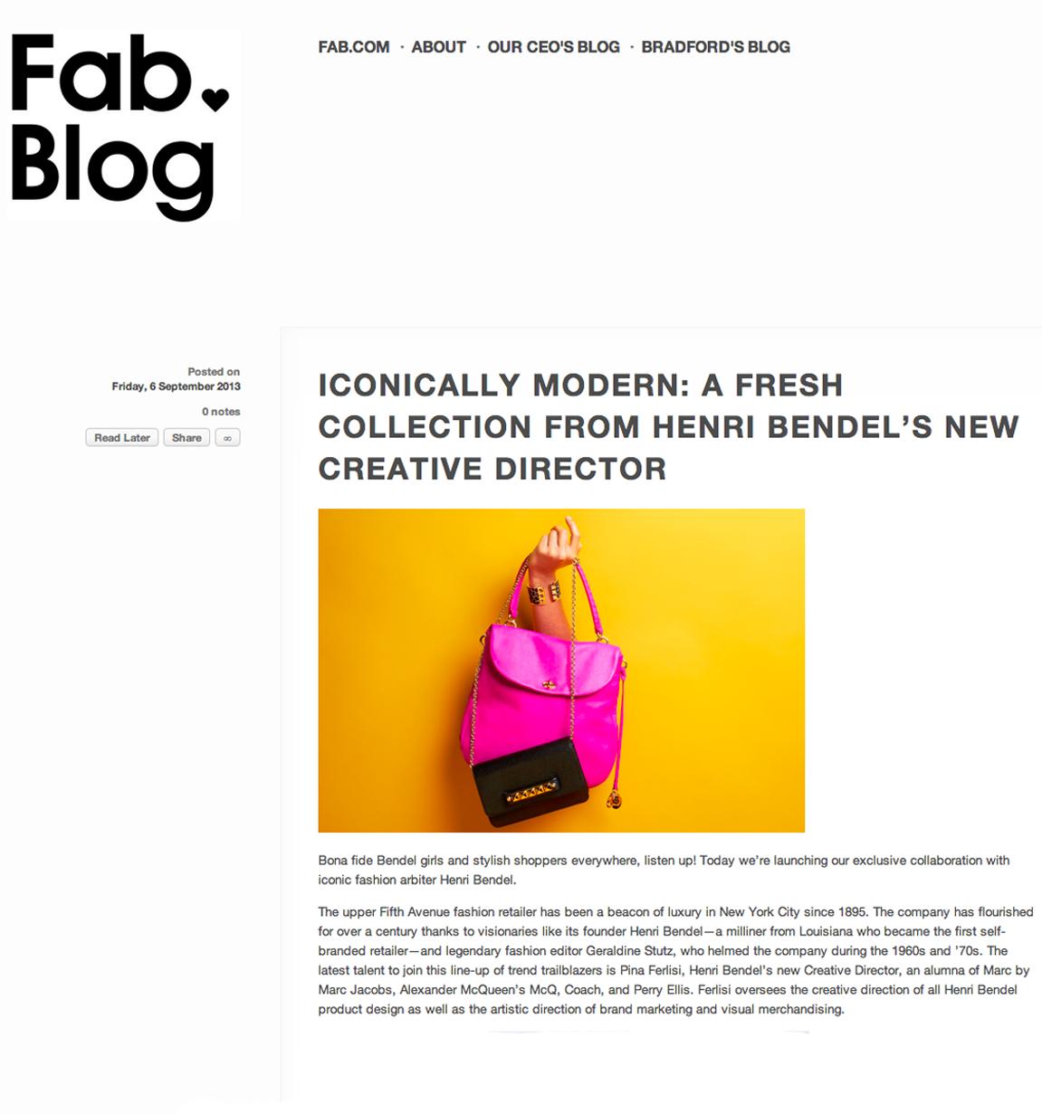 Henri Bendel - Fab Blog