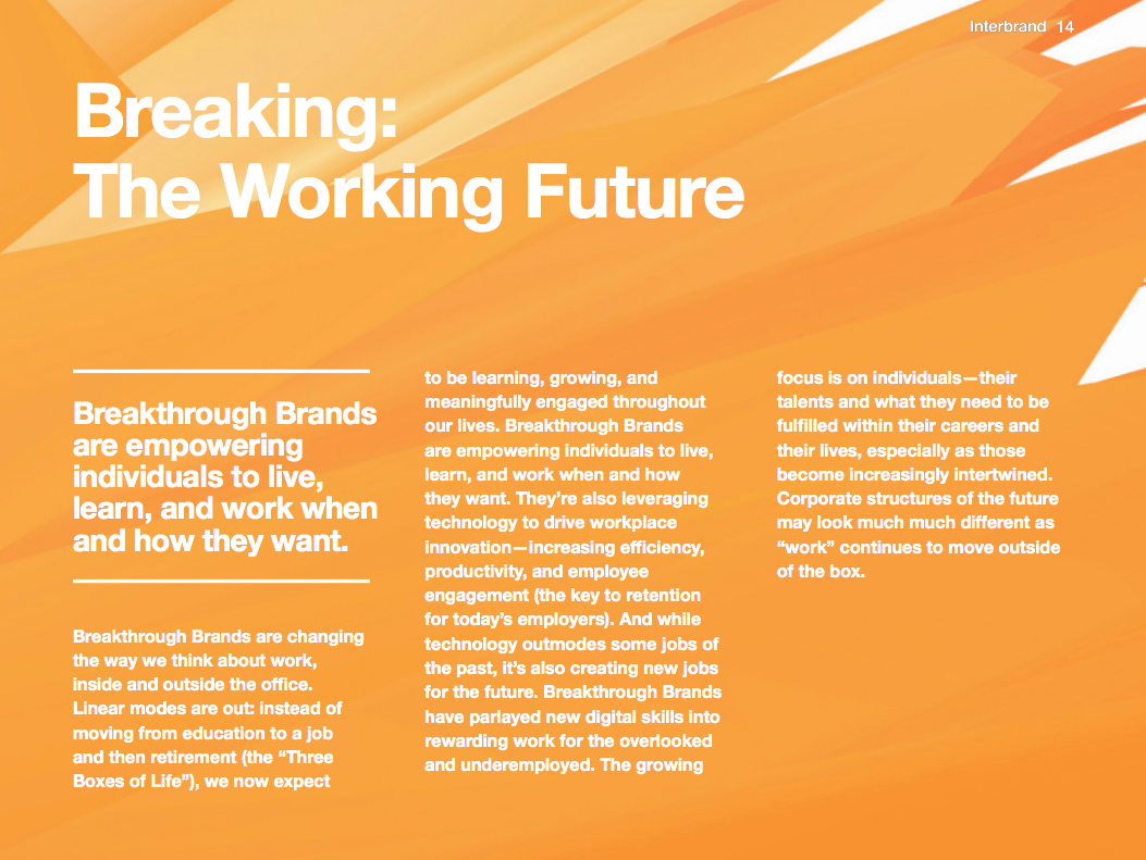 Theme Title & Description | Interbrand Breakthrough Brands 2017