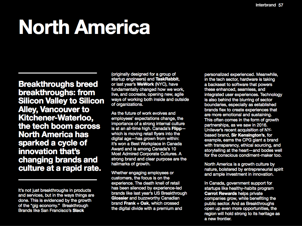 Interbrand Breakthrough Brands | Global trends write-up