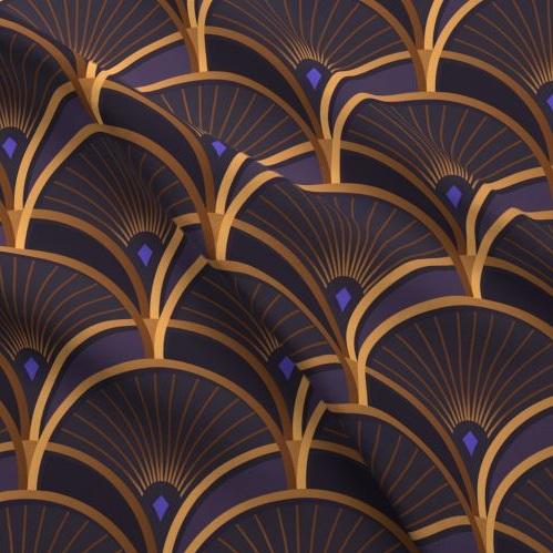 Purple Art Deco -
