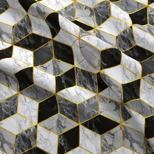 Marble Gold Hex -
