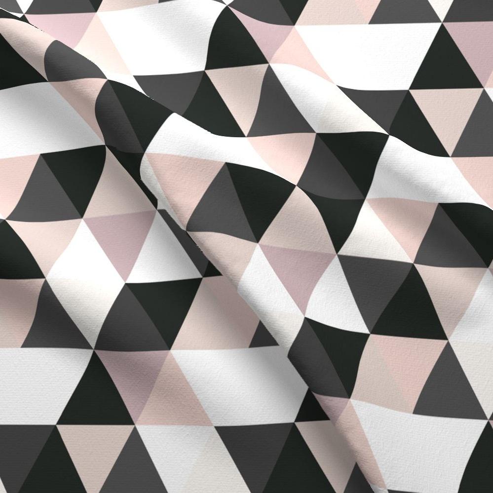 Blush & Black Triangles -