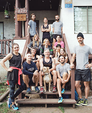 The FsRC gang hanging out at the Clubhouse pre-run.
