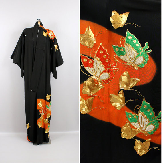 You can purchase this vintage kimono for $249- from   Living Threads Vintage