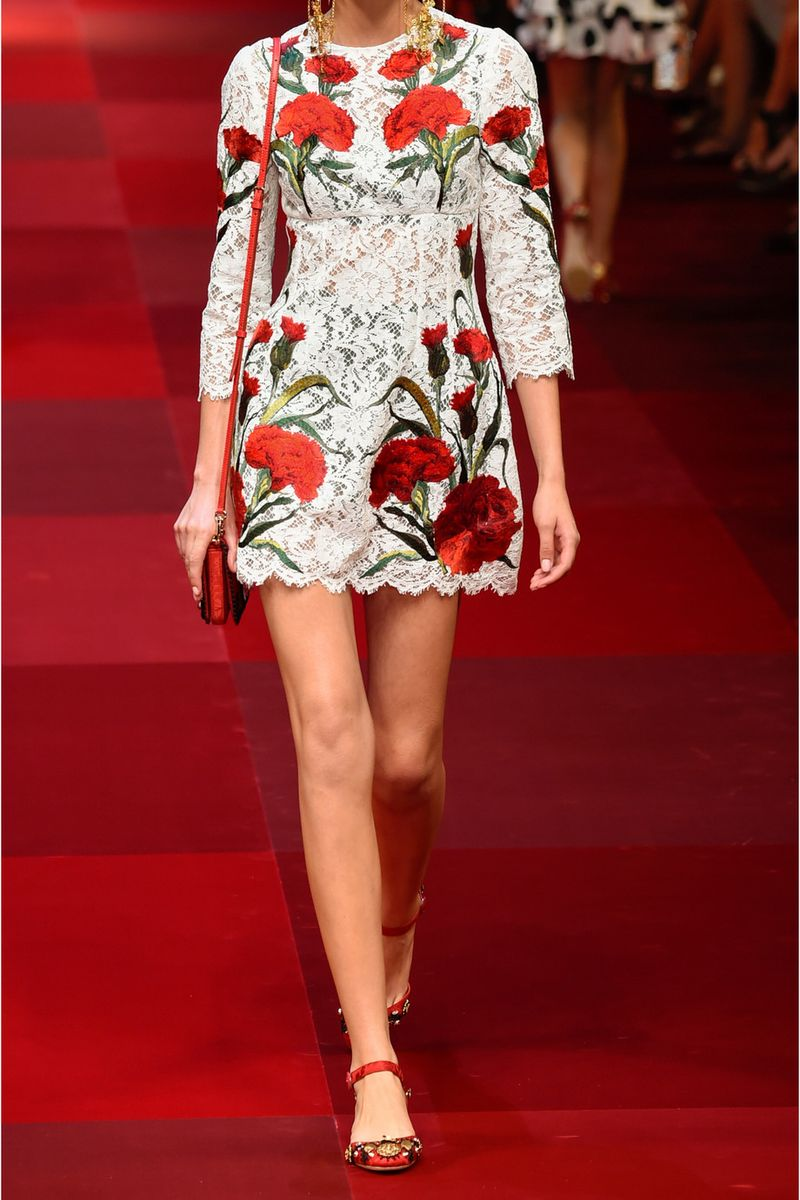 You can purchase this new Dolce & Gabbana dress for $11,500- from   Net-A-Porter