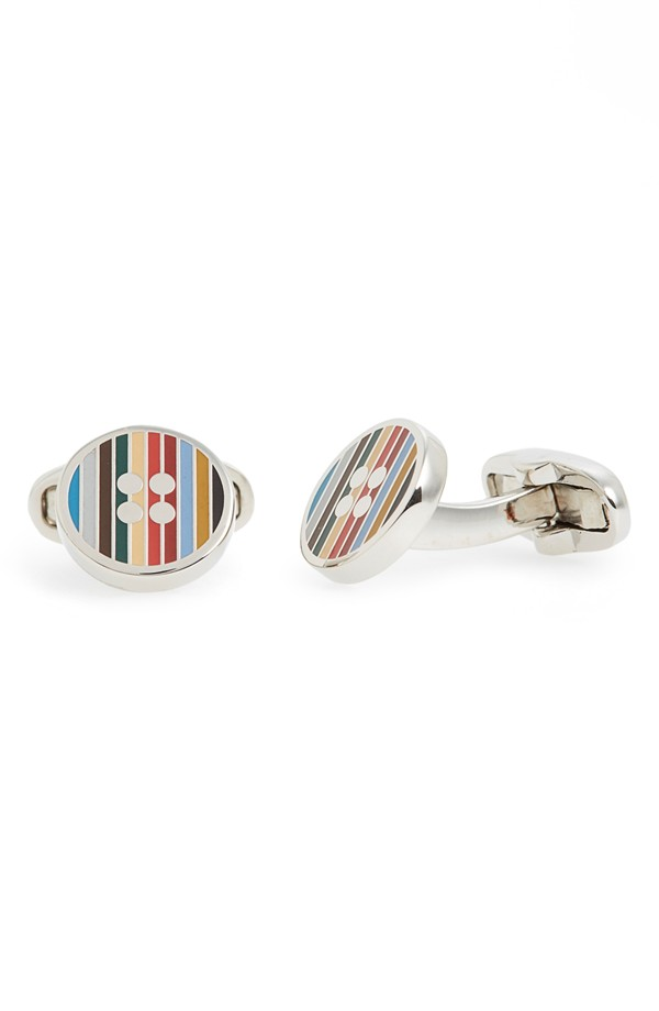 You can purchase these new Paul Smith cuff links for $135- from  Nordstrom
