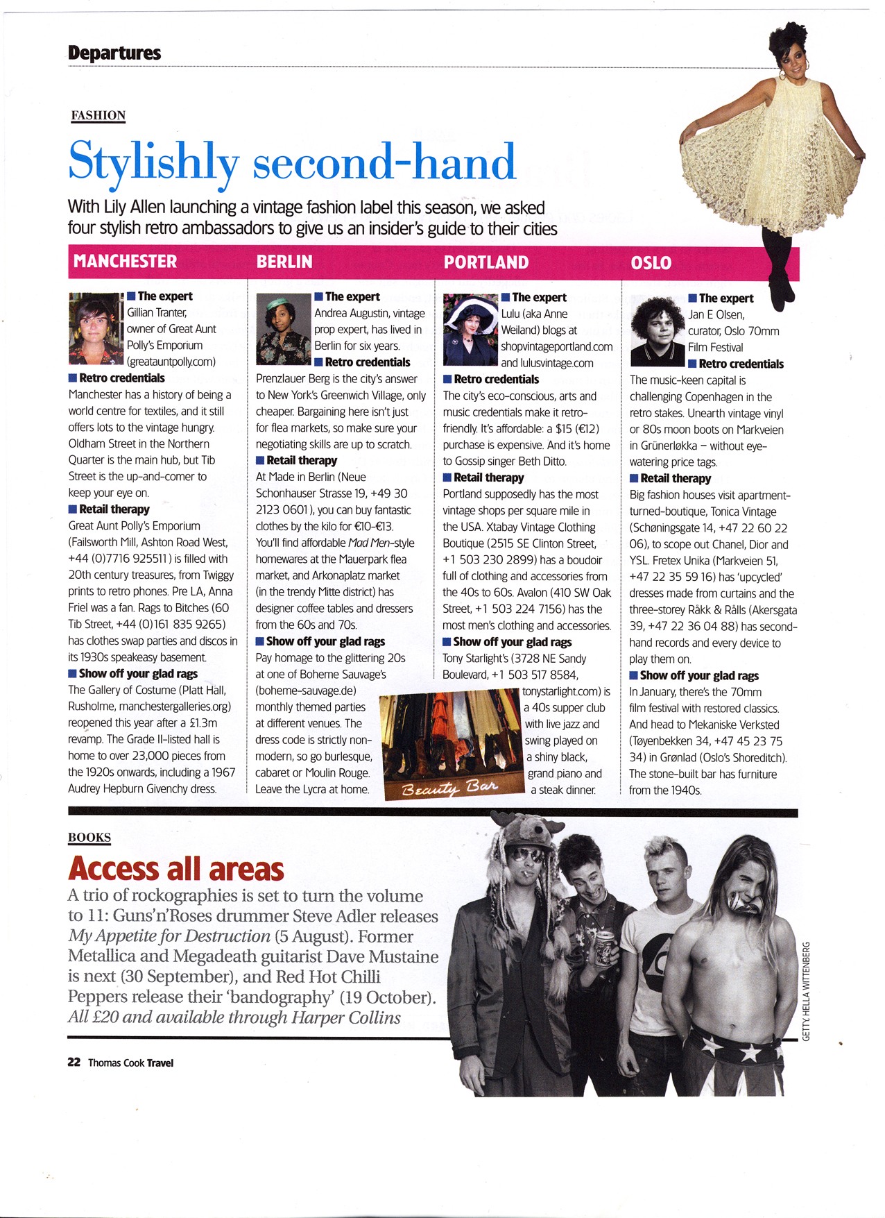 """Stylishly Second Hand"" - Thomas Cook Travel magazine"