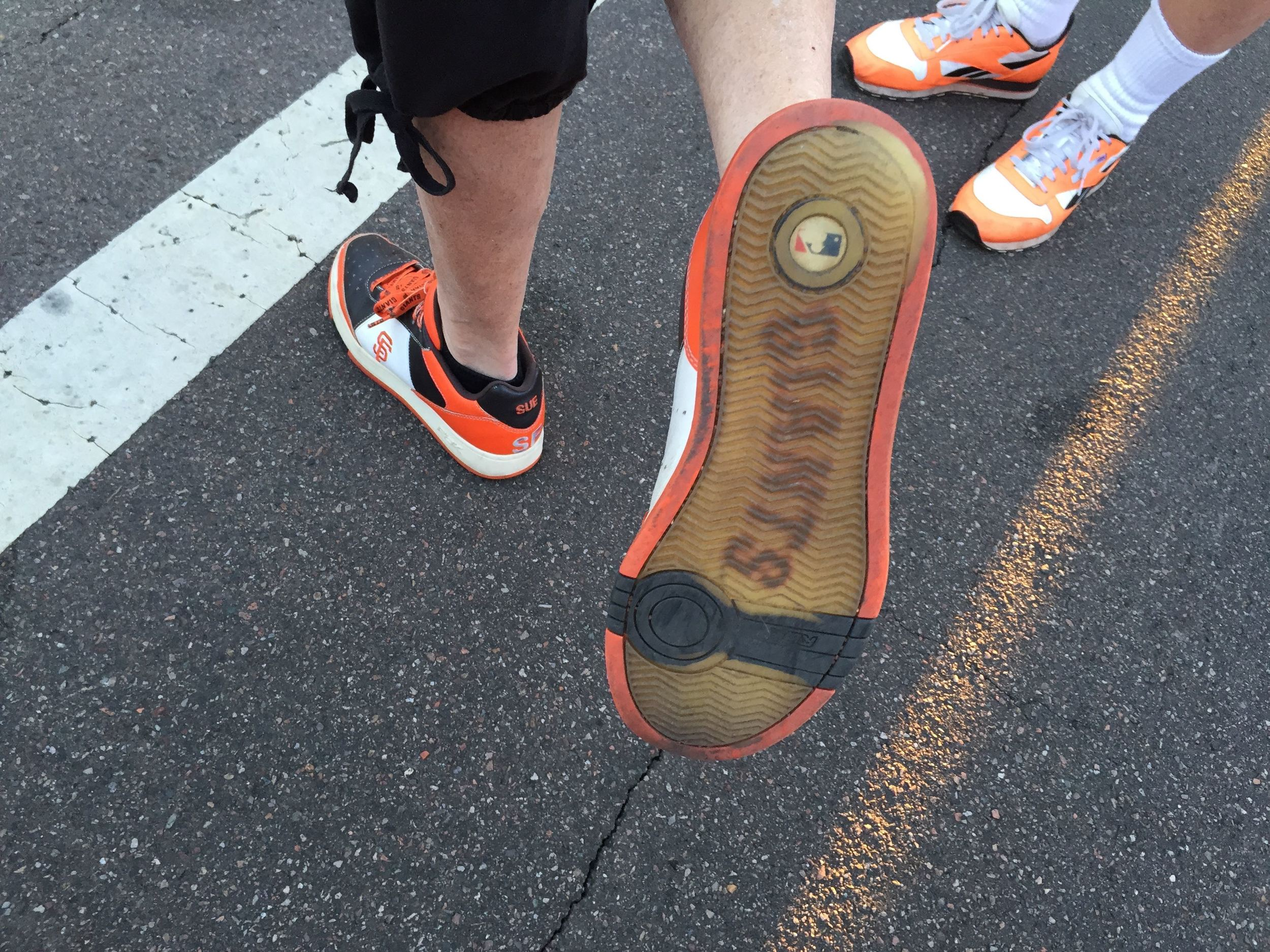 Spring training fans are hardcore. Aren't these the best kicks ever?