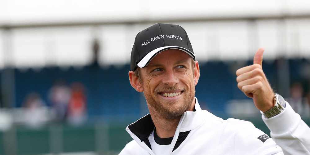 Above: McLaren signs plucky veteran Jenson Button as a reserve driver for next year.