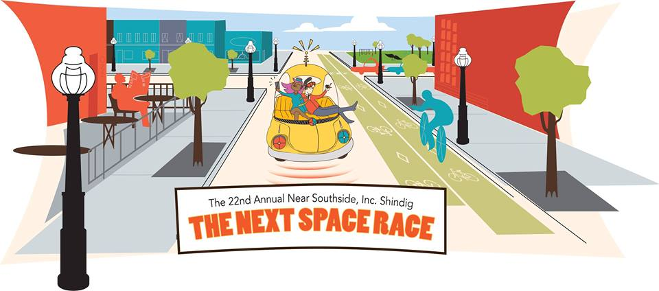 The Next Space Race - March 3, 2017 Retro Revival Shop sponsored furniture for the stage at The Next Space Race Near Southside shindig at the Fort Worth Omni Hotel.  This annual fundraiser supports revitalization efforts in the Near Southside area of Fort Worth.