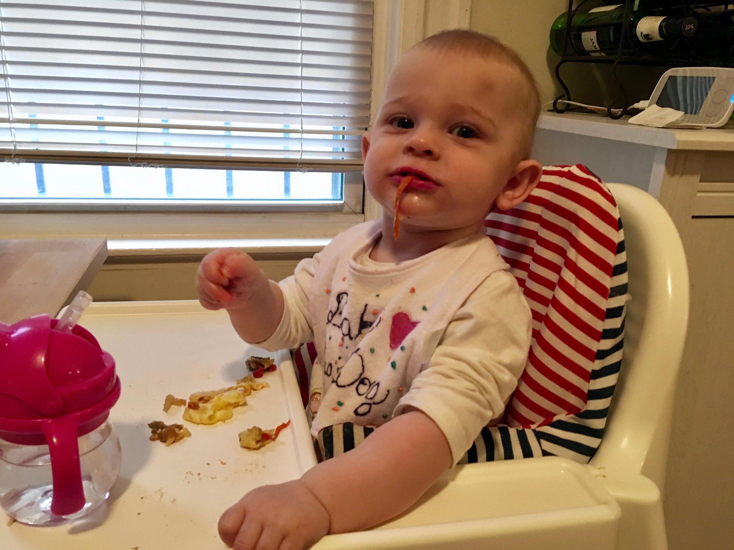 """This 'chef in training' says """"MORE PEPPERS!"""""""