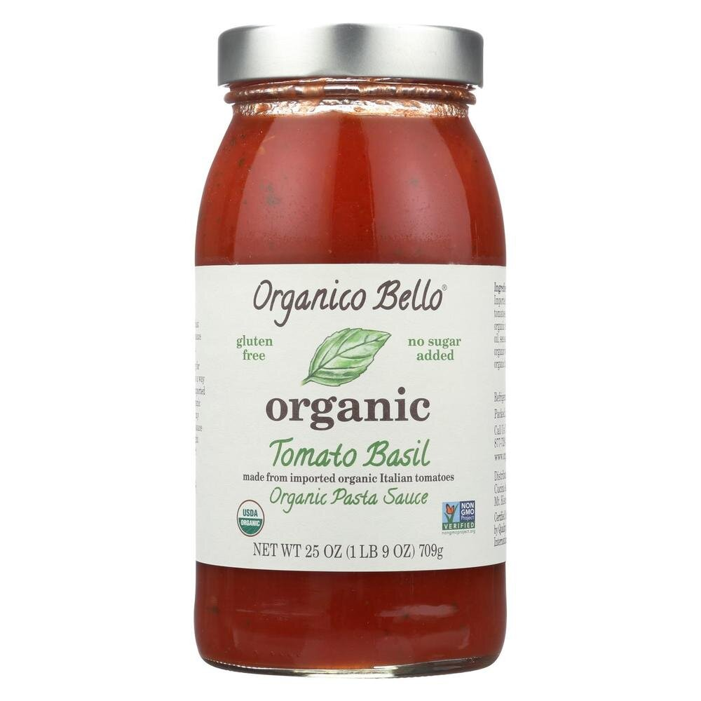 Organico Bello Tomato Basil sauce