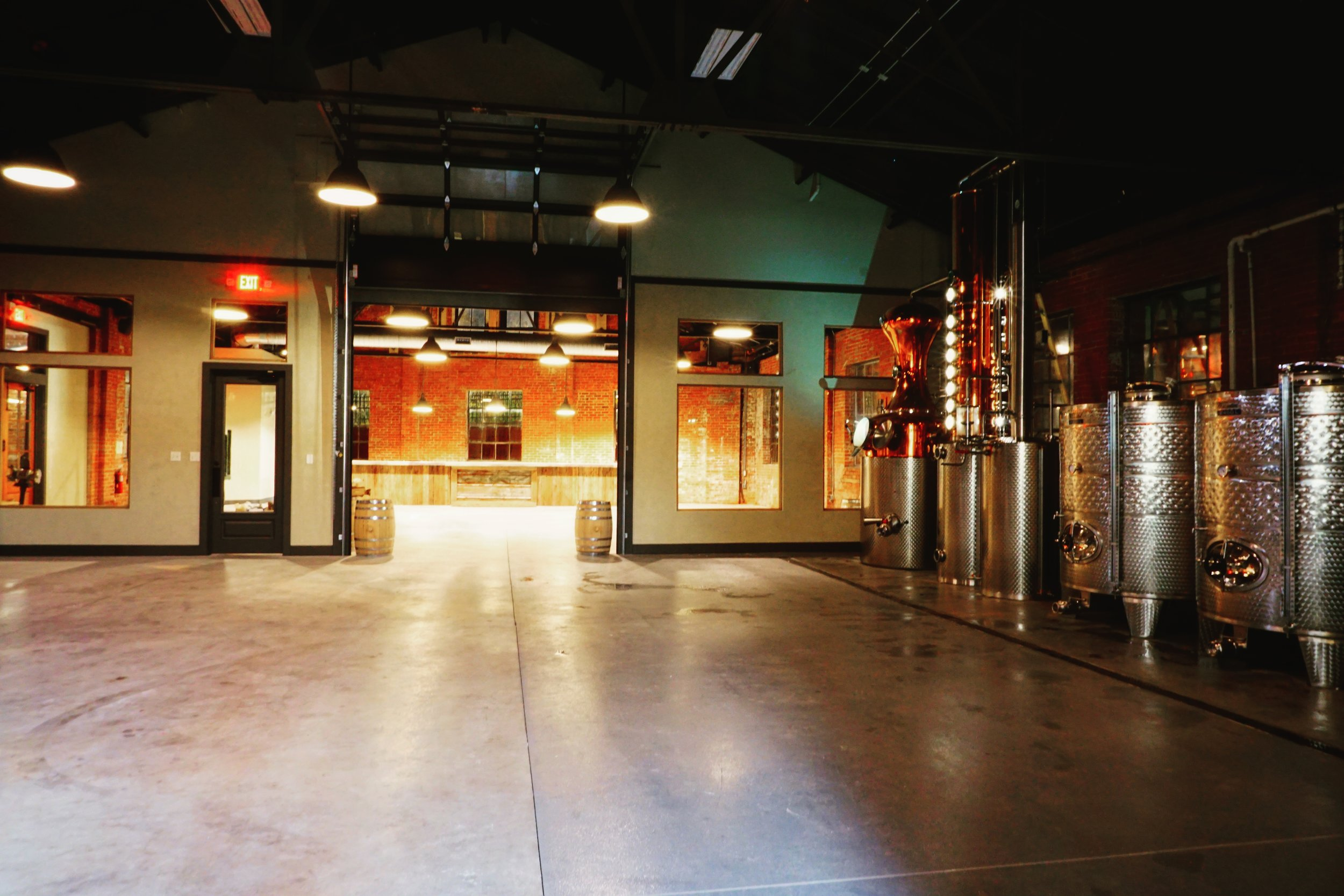 Photo 1: The fully renovated distillery at 35 South Carroll Street. ©McClintock Distilling