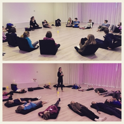 Schedule a private session or Kids classes with Laurie Cousins at Unplug Meditation Studio