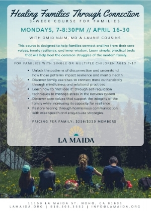 Laurie is the family program advisor at the    la maida    institute along with where she has her private practice.