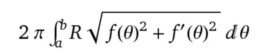 R is f(θ)sin(θ) if you're rotating about the polar axis (θ = 0). and f(θ)cos(θ) if you're rotating about the line θ = pi/2
