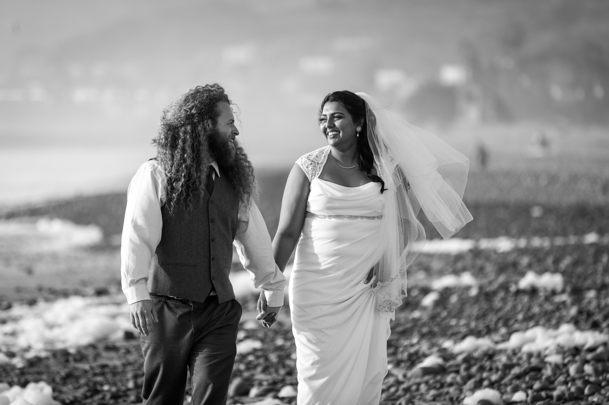 couple-blackandwhite-Ventura Beach Wedding