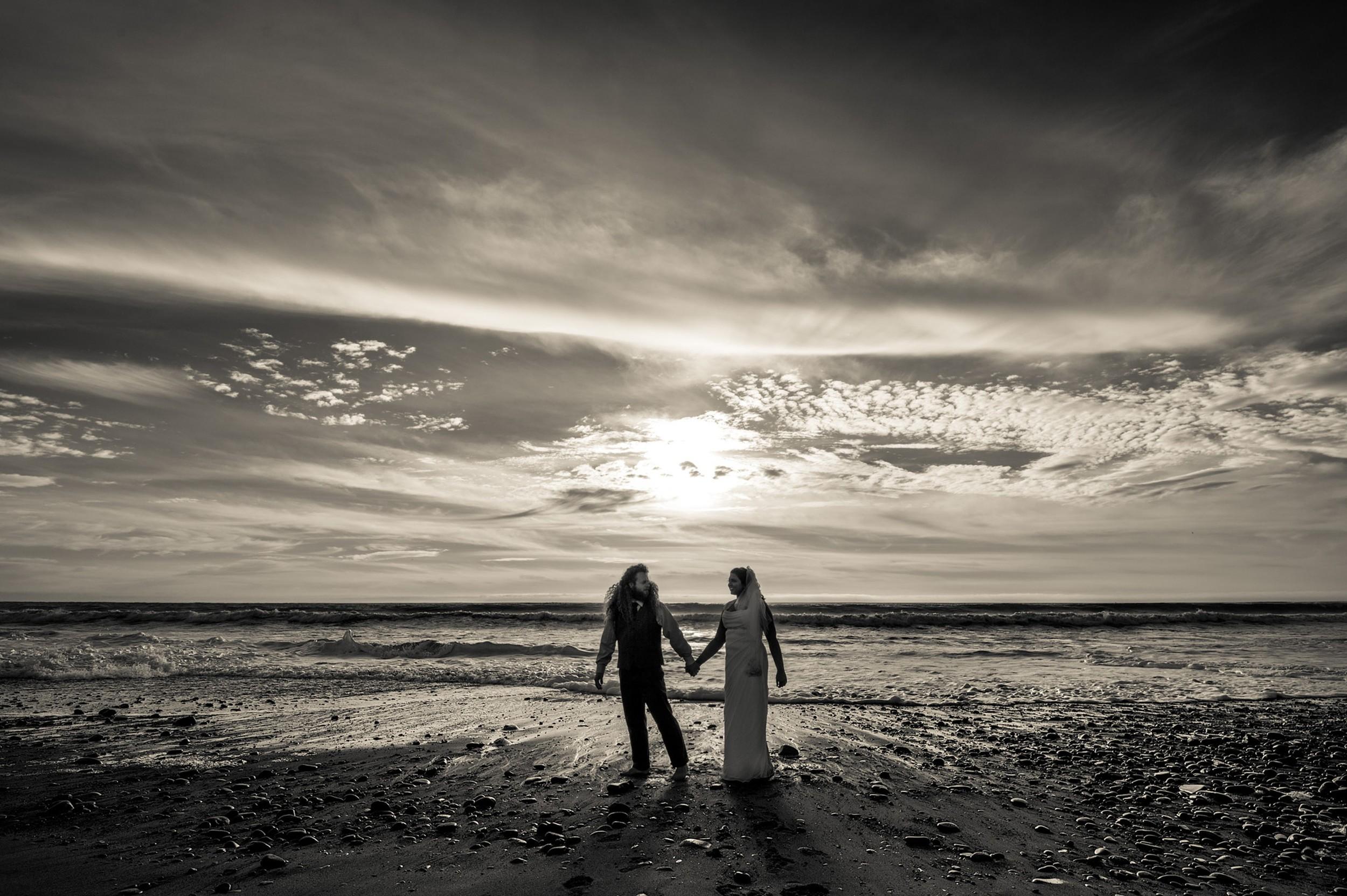 dramatic sky-Ventura Beach Wedding