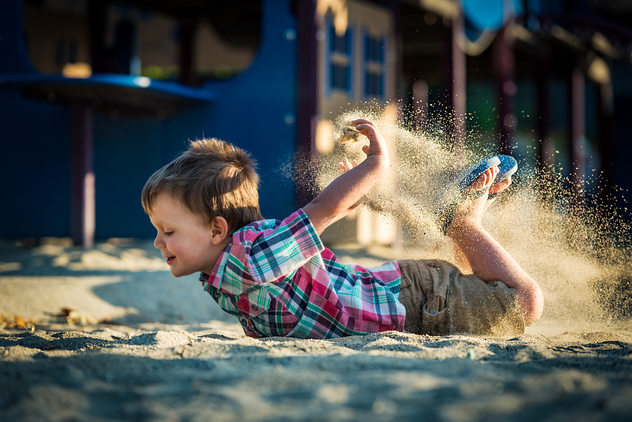 Owen loved playing in the sand. Who wouldn't???