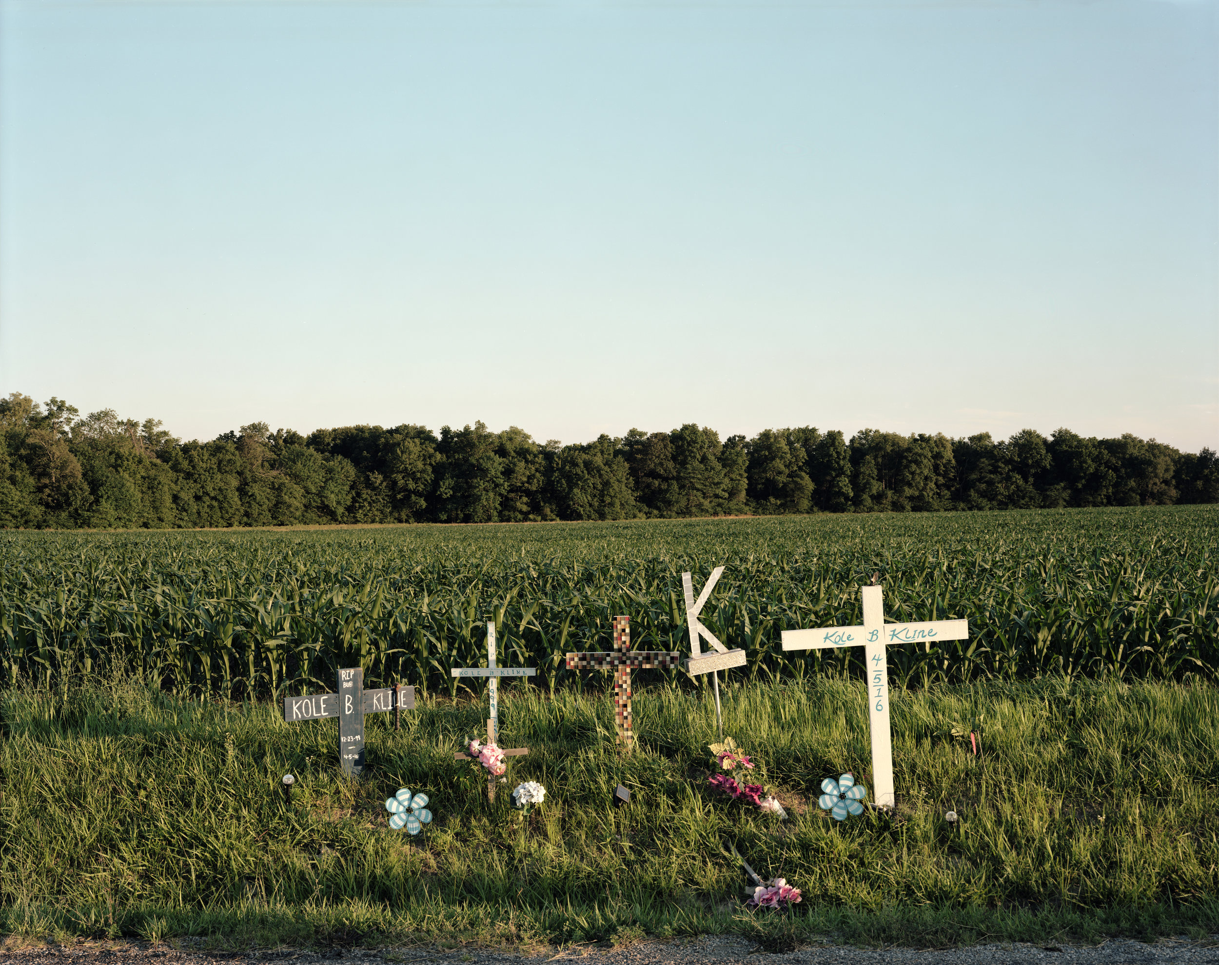 Roadside Memorial, Fairfield, Illinois
