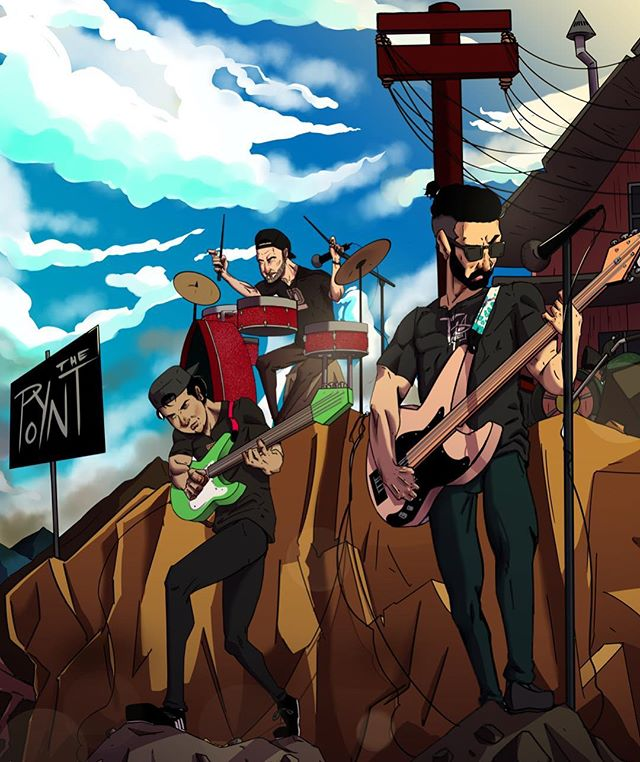 This is what our Mondays looks like...🎸🥁🎨 Big things are coming and we can't wait to share the news!!! Stay tuned! 😎🔥⛰ Illustrated by: @_the_outlinist . . . . . #illustration #illustrator #art #artist #artwork #mountain #goals #band #nyc #queens #musicians #guitarist #bassist #drummer #sky #blue #band #creative #illustrationartists #instadrawing #drawings #artlovers #bangladesh #color #instaart