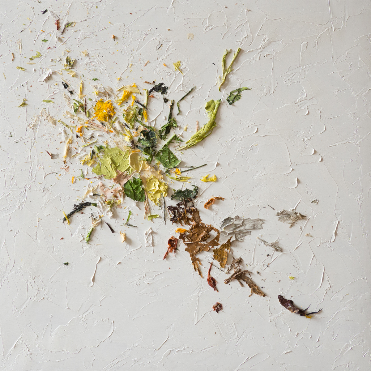 The Complexities of Emotions No.10   oils & oil paint scrapings on wood panel, 12 x 12