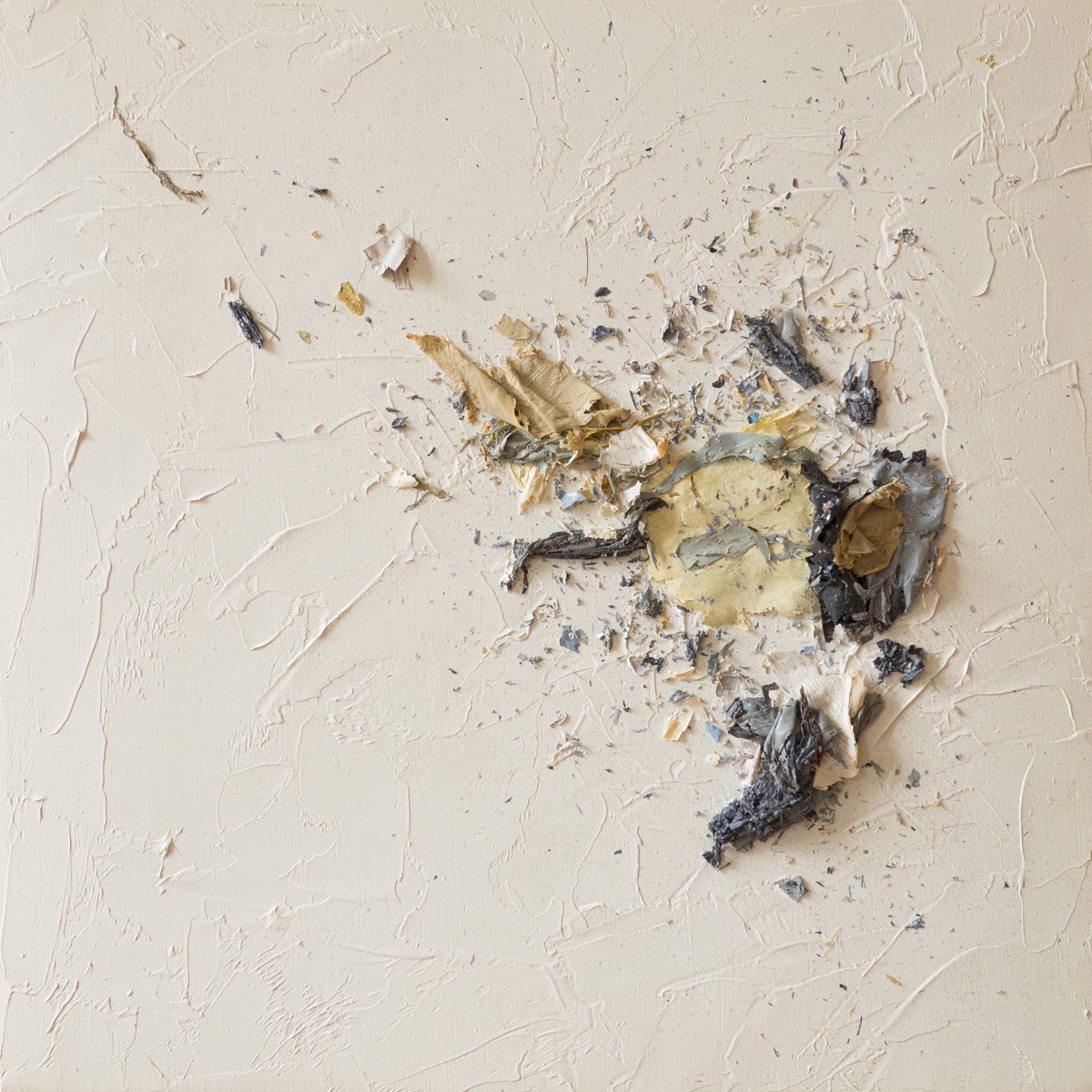 The Complexities of Emotions No.1   oils & oil paint scrapings on wood panel, 6 x 6