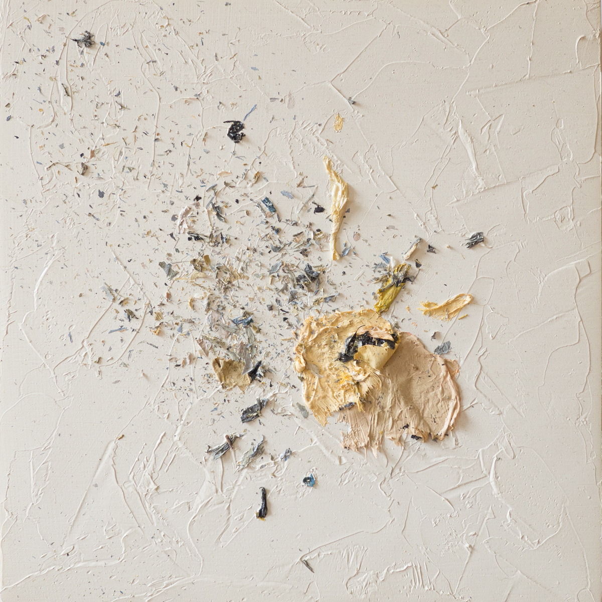 The Complexities of Emotions No.6   oils & oil paint scrapings on wood panel, 6 x 6