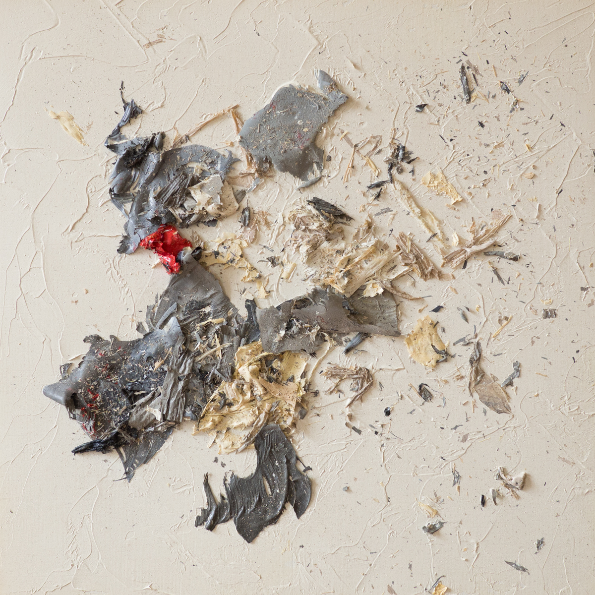The Complexities of Emotions No.4   oils & oil paint scrapings on wood panel, 6 x 6