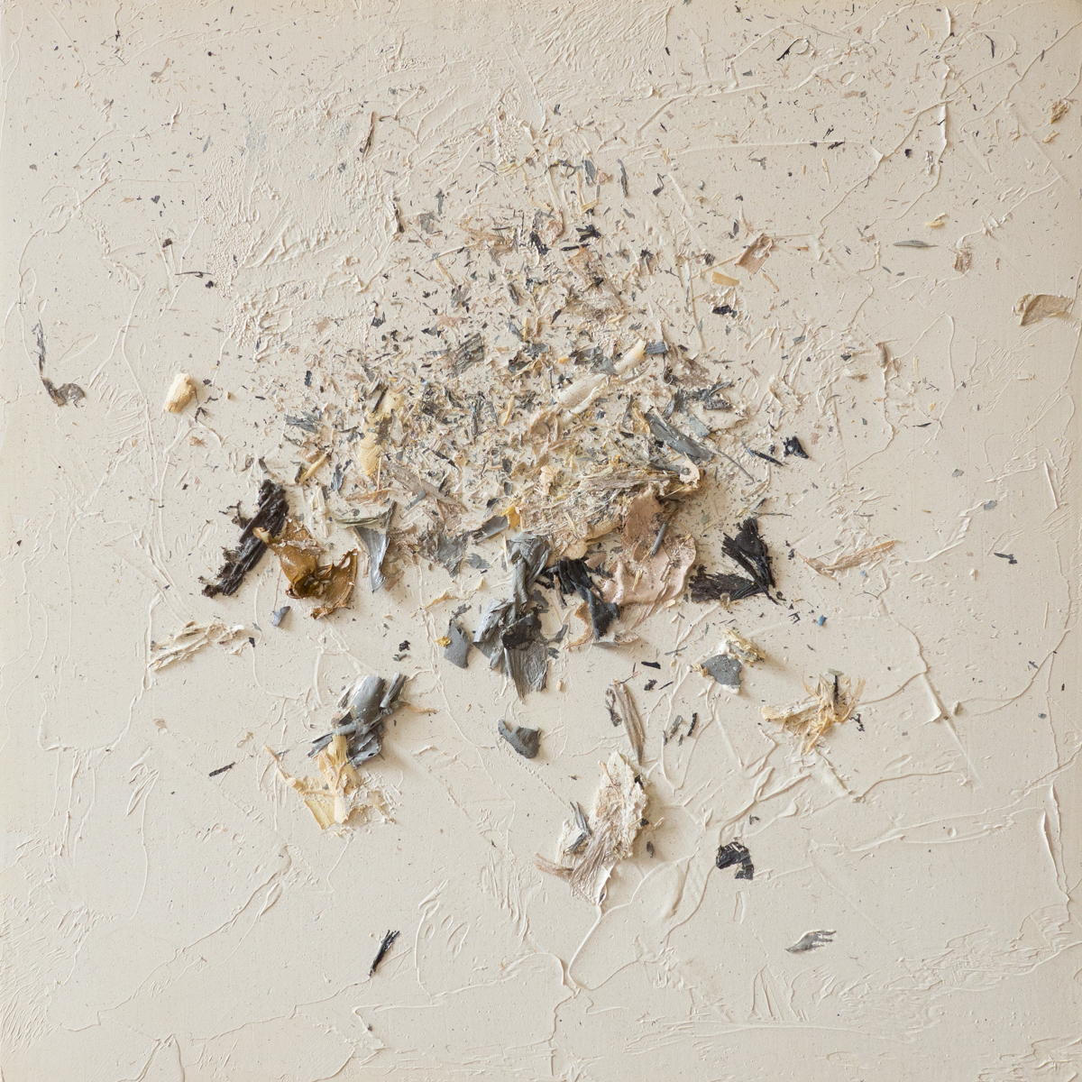 The Complexities of Emotions No.3   oils & oil paint scrapings on wood panel, 6 x 6