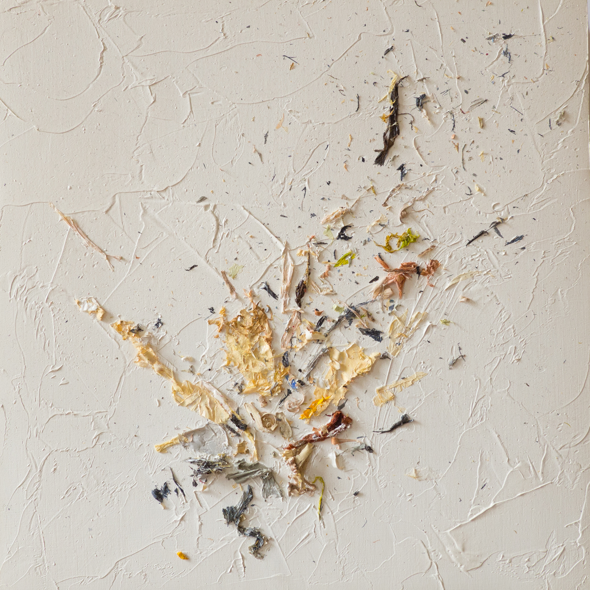 The Complexities of Emotions No.8   oils & oil paint scrapings on wood panel, 6 x 6