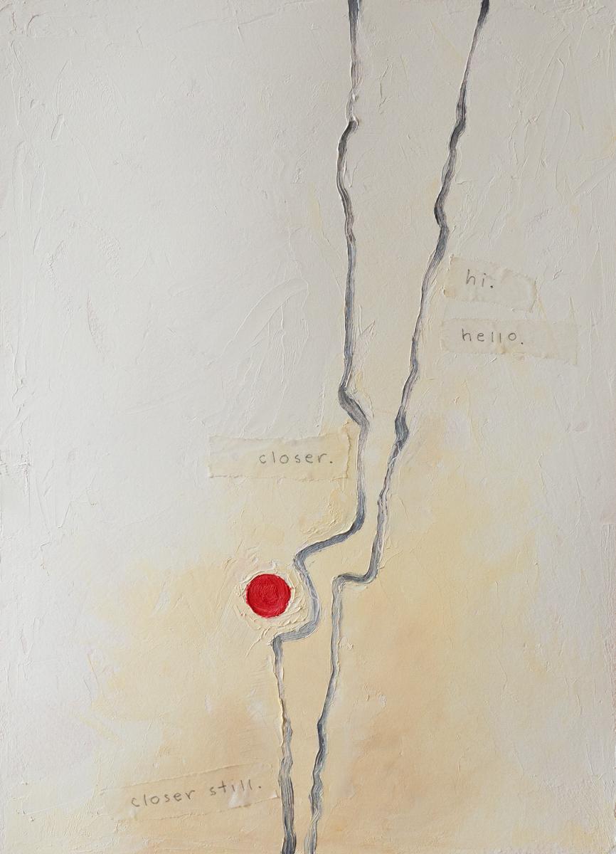 Closer, Closer Still   oil on watercolour paper, 12.5 x 9
