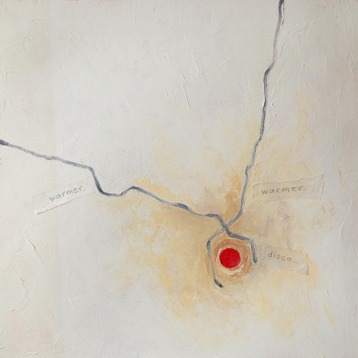 Warmer, Warmer, Disco   oil on watercolour paper, 12.5 x 12.5