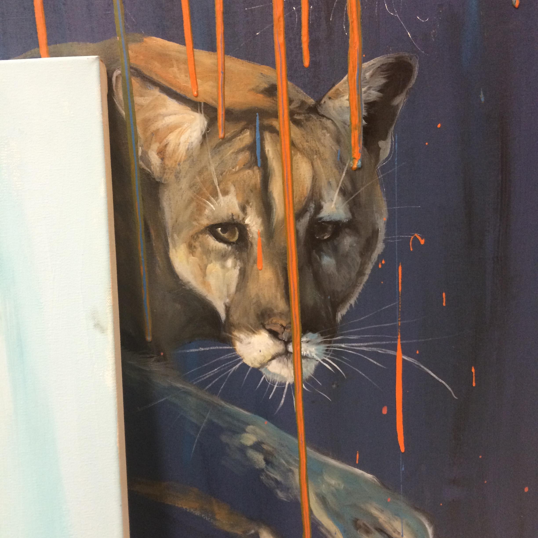 Studio shot including painting by Maya V