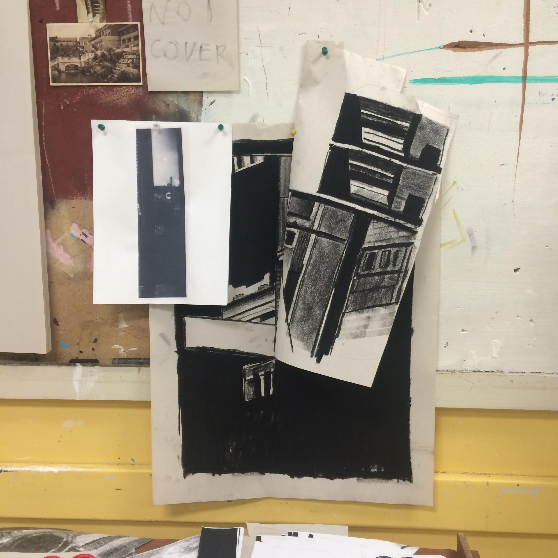Theo Gallardo's work area September 2015