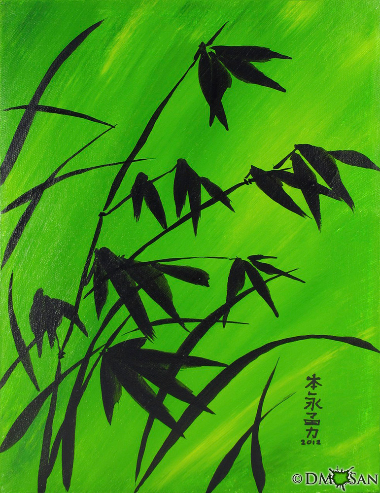 Bamboo on Green 2