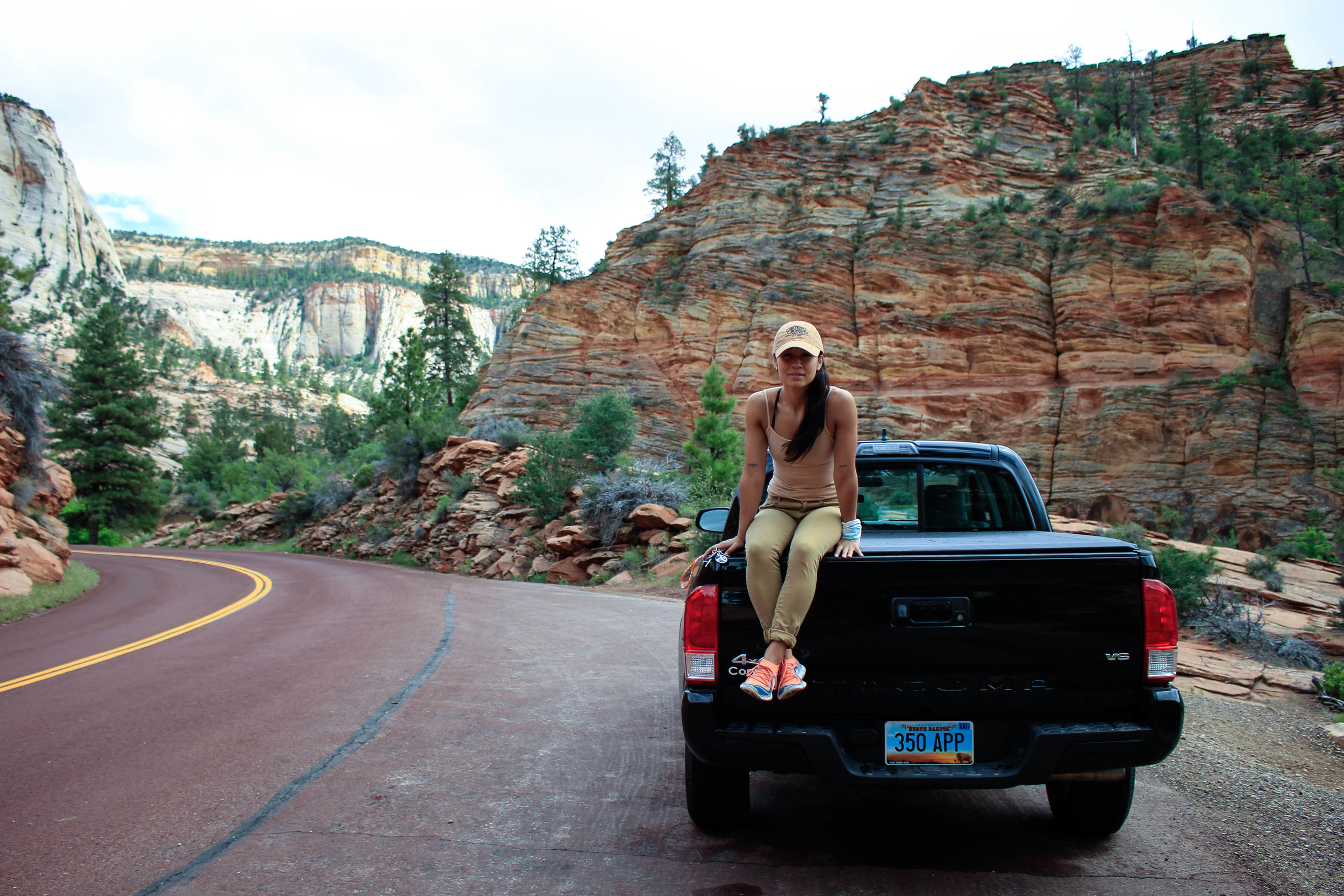 I love my truck! Zion National Park, Utah.