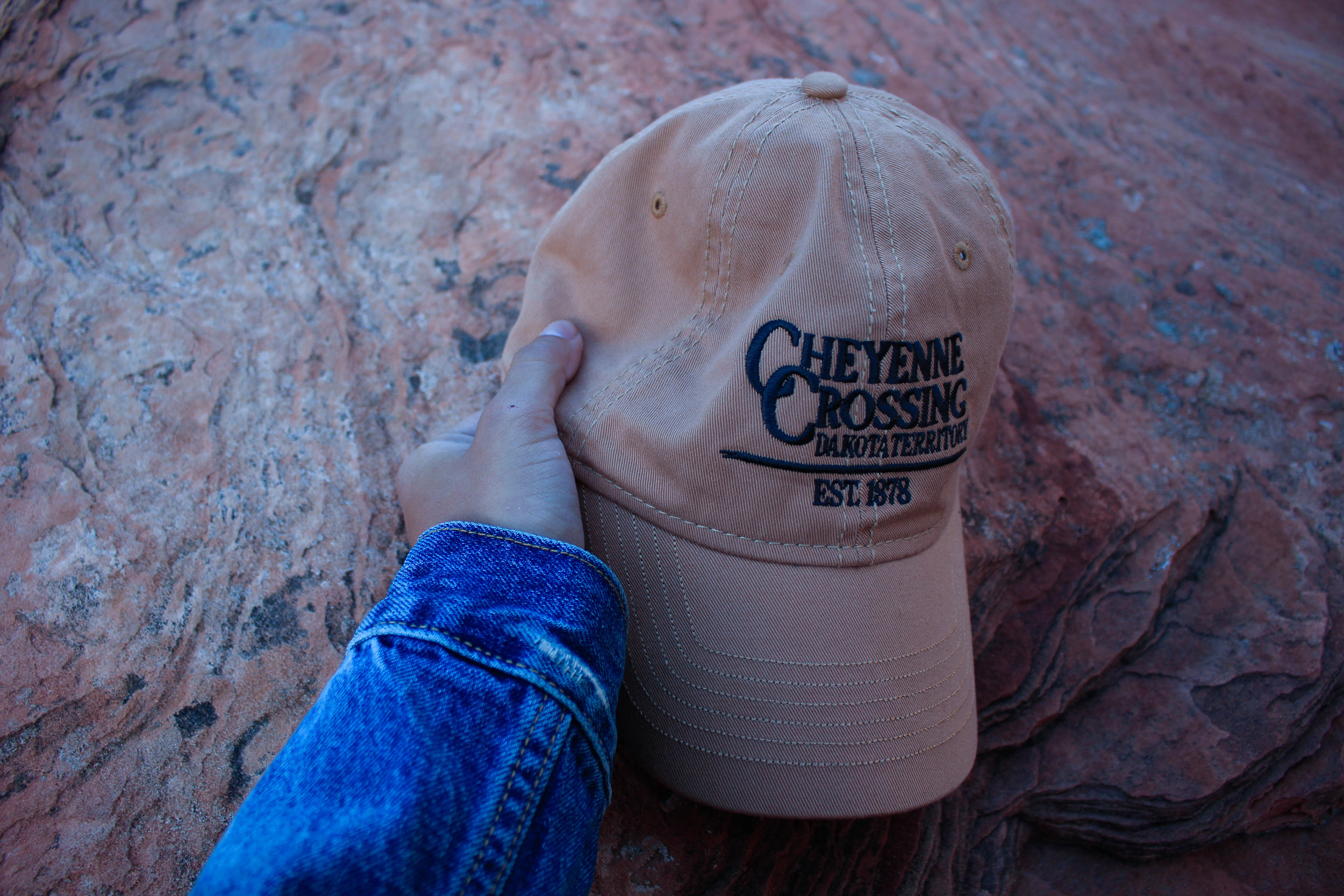 My cap from Cheyenne Crossing in the Black Hills pictured in Zion National Park, Utah.