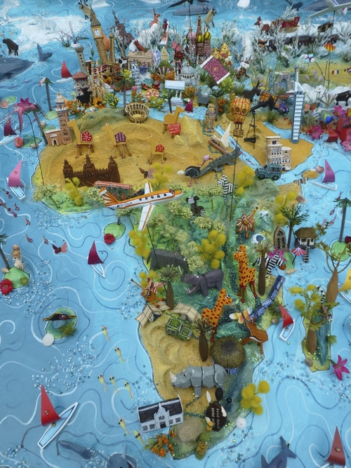 3d Map Of Africa Project.Sara Drake